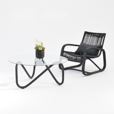 Additional image for curve lounge chair black