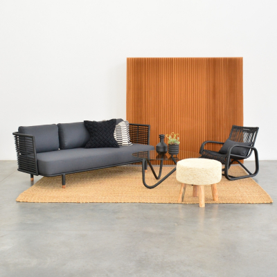 Additional image for cane sofa black