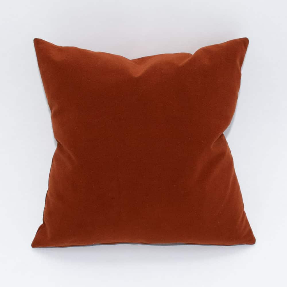 burnt orange pillow