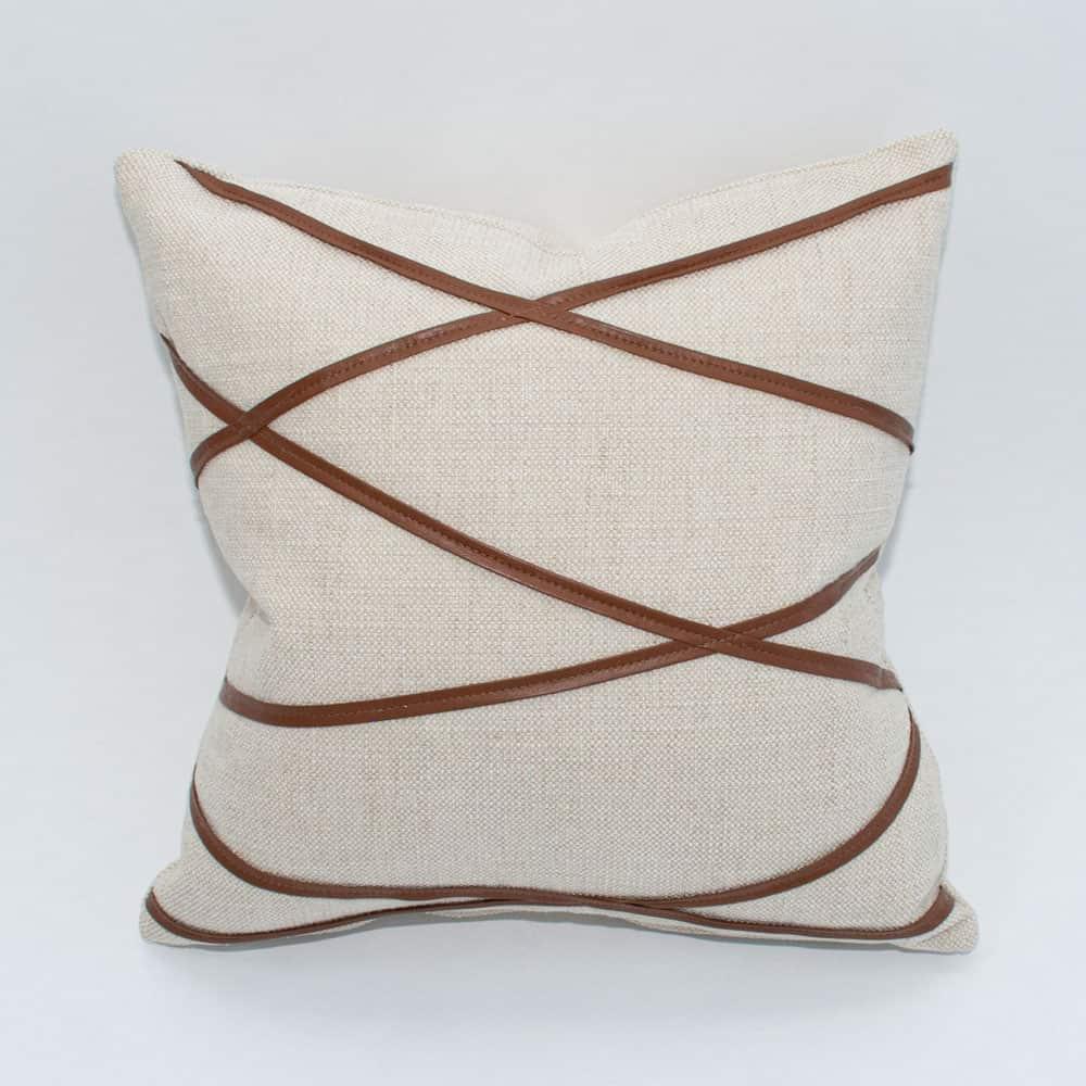 como leather pillow