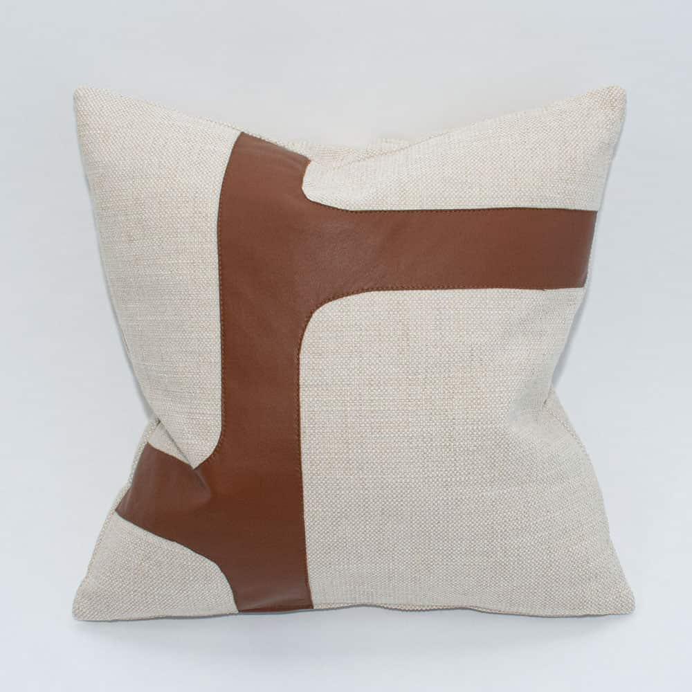 garda leather pillow