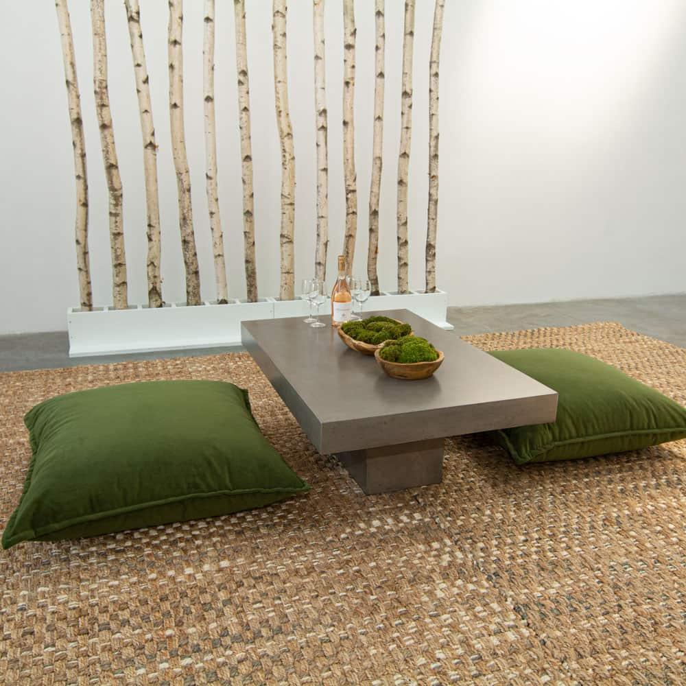 forest velvet floor cushion