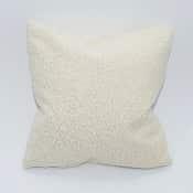 faux sheepskin pillow