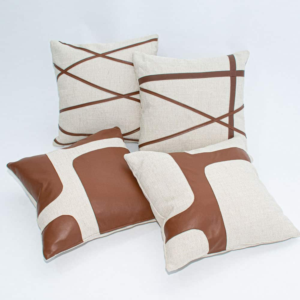 Additional image for garda leather pillow