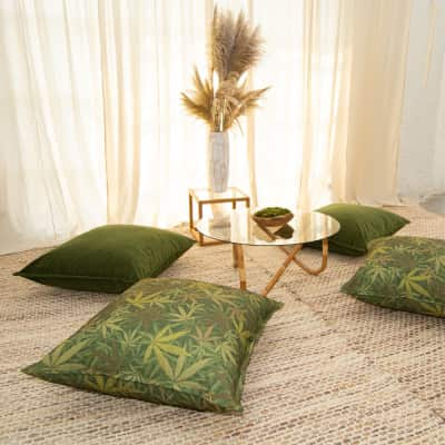 Additional image for forest velvet floor cushion