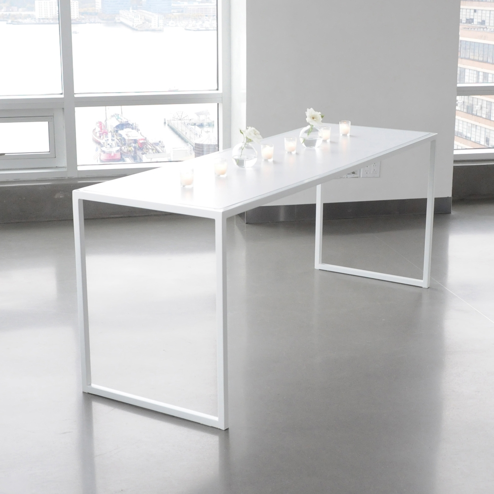 Judd Table White Furniture Rentals For Special Events